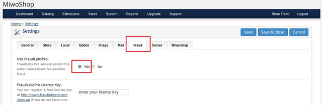 Enable Fraud Detection Feature