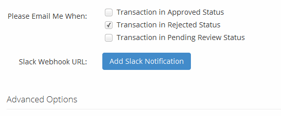 Add slack notification