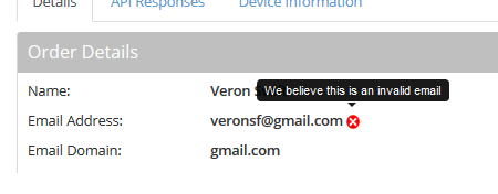 An invalid email address