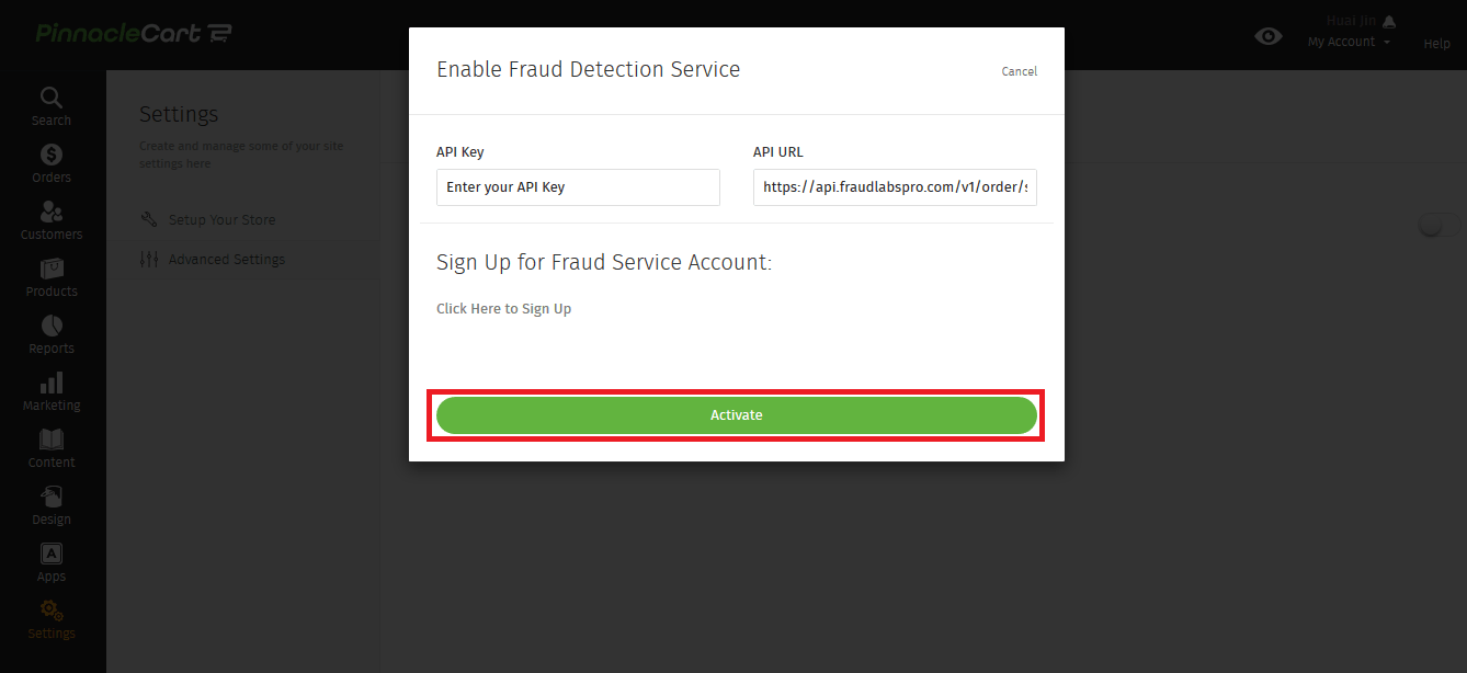 Activate Fraud Detection