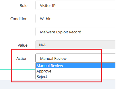 configure fraud rules - malware exploit validation